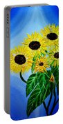 Sunflowers 1 Portable Battery Charger