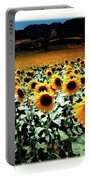 Sunflowers At Dusk Portable Battery Charger