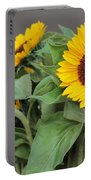 Sunflowers At Pikes Market Portable Battery Charger