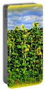 Sunflowers In France Portable Battery Charger