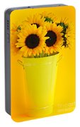 Sunflowers In Vase Portable Battery Charger