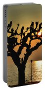 Sunlight And Tree Portable Battery Charger