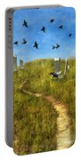 Sunny Graveyard With Birds Portable Battery Charger
