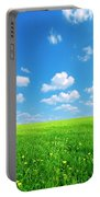 Sunny Spring Landscape Portable Battery Charger