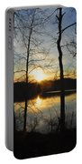 Sunrise Along The Delaware River Portable Battery Charger