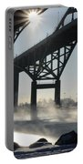 Sunrise Blue Water Bridges Fog Portable Battery Charger