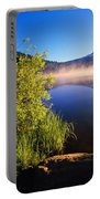 Sunrise Fog On Trillium Lake Portable Battery Charger