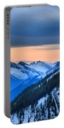 Sunrise Over The Rockies Portable Battery Charger