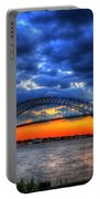 Sunset At The Bayonne Bridge Portable Battery Charger