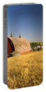 Sunset Barn And Wheat Field Steptoe Portable Battery Charger