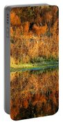 Sunset Glow On The Pond Portable Battery Charger