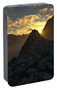 Sunset In The Stony Mountains Portable Battery Charger