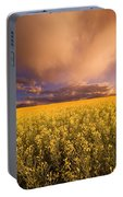 Sunset On A Canola Field Portable Battery Charger