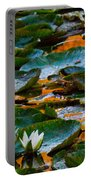 Sunset On A Lily Pond Portable Battery Charger
