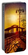 Sunset On The Boardwalk Portable Battery Charger
