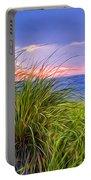 Sunset On Wellfleet Dunes Portable Battery Charger