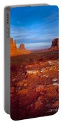 Sunset Over Monument Valley Portable Battery Charger