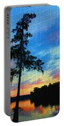 Sunset Over The Suwanee Mosaic Portable Battery Charger