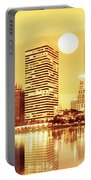 Sunset Scenes Of City Portable Battery Charger