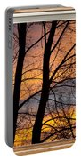 Sunset Window View Portable Battery Charger