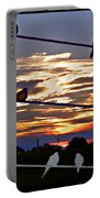 Sunsets And Birds Portable Battery Charger
