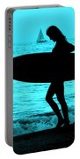 Surfs Up Blue Portable Battery Charger