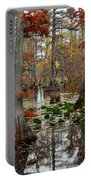 Swamp In Fall Portable Battery Charger