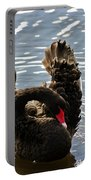 Swan Preening Its Feathers Portable Battery Charger