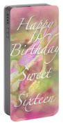 Sweet Sixteen Birthday Greeting Card - Rosebud Portable Battery Charger