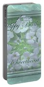 Sweetheart Birthday Greeting Card - Wild Phlox Portable Battery Charger