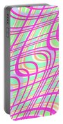 Swirly Check Portable Battery Charger