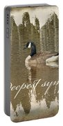 Sympathy Greeting Card - Canada Goose Portable Battery Charger