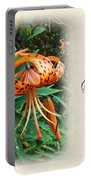 Sympathy Greeting Card - Wildflower Turk's Cap Lily Portable Battery Charger