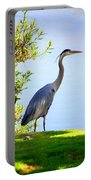 Tall Grey Heron Portable Battery Charger