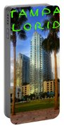 Tampa Florida Poster Work Number One Portable Battery Charger