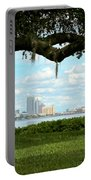 Tampa Skyline Through Old Oak Portable Battery Charger