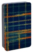 Tangerine Plaid Portable Battery Charger