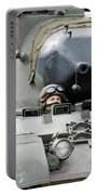 Tank Driver Of A Belgian Leopard 1a5 Portable Battery Charger