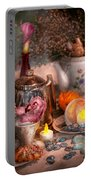 Tea Party - I Would Love To Have Some Tea  Portable Battery Charger by Mike Savad