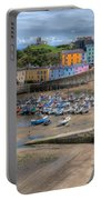Tenby Harbour In Summer Portable Battery Charger