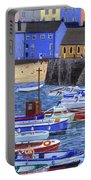 Painting Tenby Harbour With Boats Portable Battery Charger
