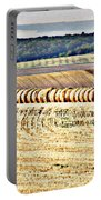 Textured Fields Of France Portable Battery Charger