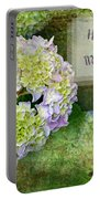 Textured Hydrangeas Birthday Mother Greeting Card Portable Battery Charger
