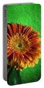 Textured Orange Flower Portable Battery Charger
