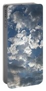 Textured Skies Portable Battery Charger