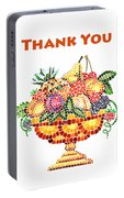 Thank You Card Fruit Vase Portable Battery Charger