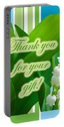 Thank You For The Gift Greeting Card - Lily Of The Valley Portable Battery Charger