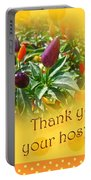 Thank You For Your Hospitality Greeting Card - Decorative Pepper Plant Portable Battery Charger