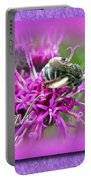 Thank You Greeting Card - Bumblebee On Ironweed Portable Battery Charger