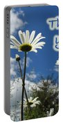 Thank You Greeting Card - Oxeye Daisy Wildflowers Portable Battery Charger